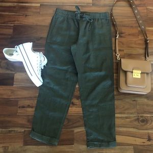 100% linen Lord & Taylor pull on pants